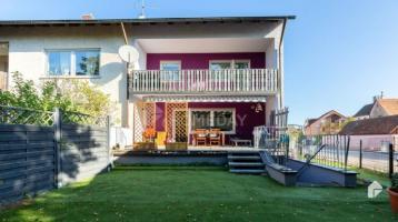 Modernes Reihenendhaus mit Terrasse, Garten und Garage in idyllischer Lage