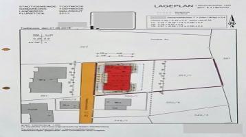 Baugrundstück f. 2 EFH m. ELW - ein Rohbau vorhanden