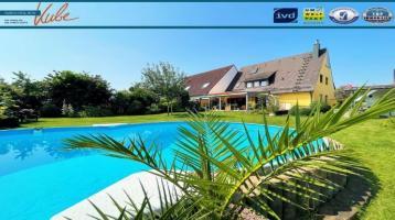 IMMO KUBE! Traumhaftes Wohnen in der Werderau. DHH mit großzügigem Garten und Pool.